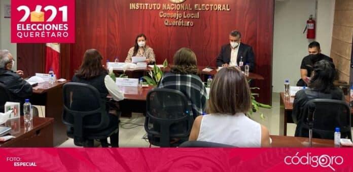 El Consejo Local del INE en el estado de Querétaro se declaró en sesión permanente. Foto: Especial