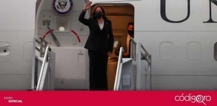La vicepresidenta de Estados Unidos, Kamala Harris, regresó a la Unión Americana tras su gira por Guatemala y México. Foto: Especial