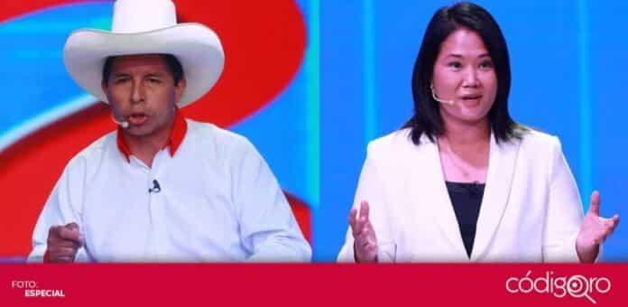 Keiko Fujimori y Pedro Castillo se disputan la presidencia de Perú en segunda vuelta electoral. Foto: Especial