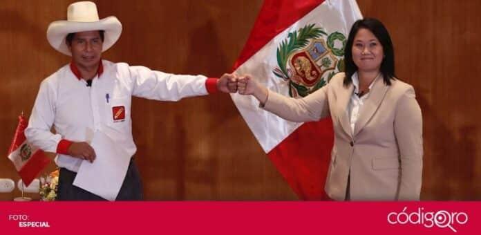 Keiko Fujimori y Pedro Castillo se enfrentarán en la segunda vuelta de las elecciones presidenciales de Perú. Foto: Especial