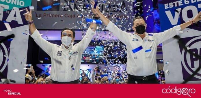 Mauricio Kuri González y Luis Bernardo Nava Guerrero concluyeron su campaña electoral. Foto: Especial