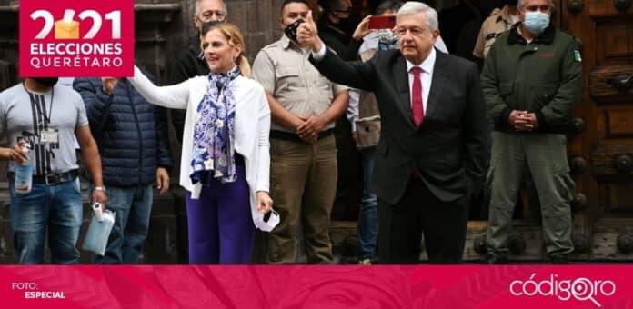 Junto a su esposa Beatriz Gutiérrez Müller, el presidente de México, Andrés Manuel López Obrador, acudió a emitir su voto. Foto: Especial