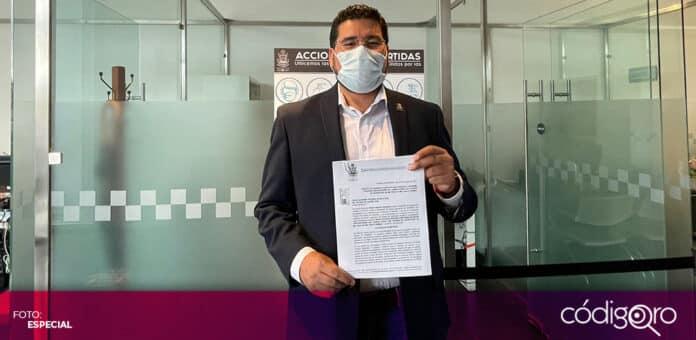 El diputado local de Morena, Néstor Gabriel Domínguez Luna, planteó una reforma en materia de maltrato animal. Foto: Especial