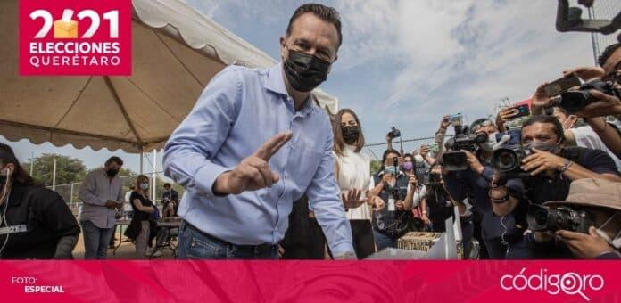 El candidato común del PAN y QI a la gubernatura del estado de Querétaro, Mauricio Kuri González, obtuvo entre 53.0 y 56.4% de los votos. Foto: Obture Press