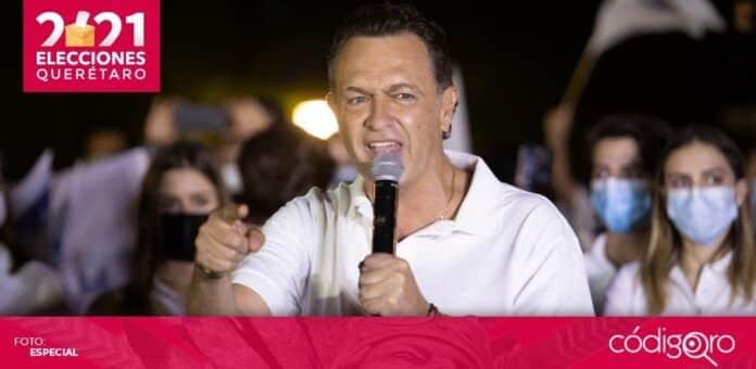 Mauricio Kuri González, candidato común del PAN y Querétaro Independiente a la gubernatura, obtuvo más de 50% de los votos. Foto: Obture Press