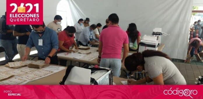 El INE recontará mil 915 paquetes electorales de diputados federales en el estado de Querétaro. Foto: Katia Lemus