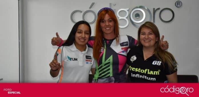 Valeria Aranda, Zihara Esteban y Betty Ramírez participarán en la Nascar Trucks. Foto: Irma Caballero