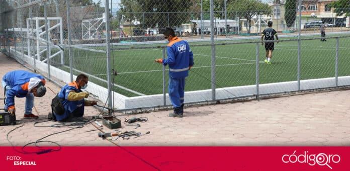 El municipio de Querétaro rehabilita el parque Chichimecas-Otomíes. Foto: Especial