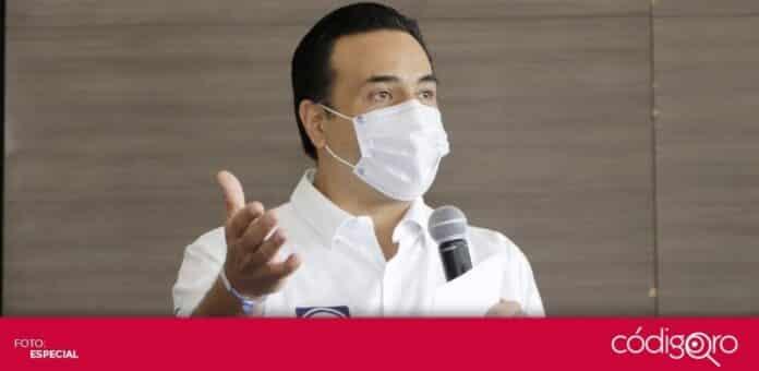 El candidato común del PAN y QI a la presidencia municipal de Querétaro, Luis Bernardo Nava Guerrero, se prepara para concluir su campaña electoral. Foto: Especial