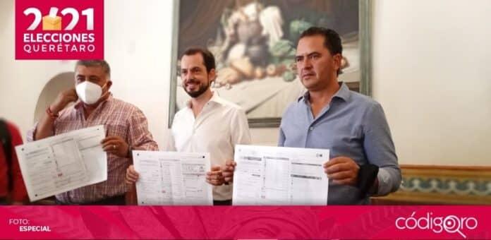El líder estatal del PRI en Querétaro, Paul Ospital, pidió un recuento total de votos en el municipio de Colón. Foto: Anaid Mendoza