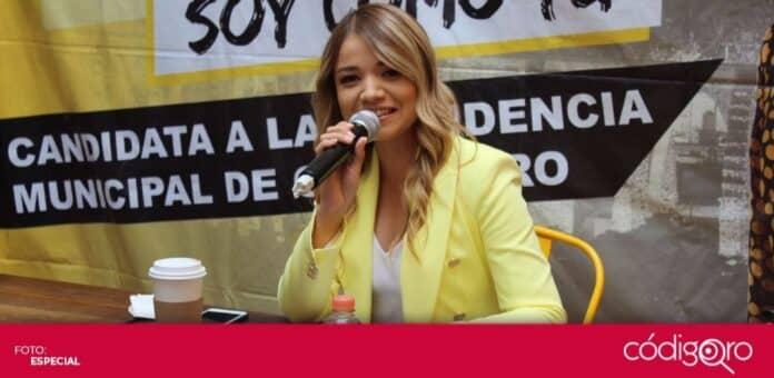 La candidata del PRD a la presidencia municipal de Querétaro, Vanesa Garfias, pidió una jornada electoral tranquila. Foto: Especial