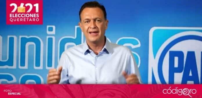 El candidato común del PAN y Querétaro Independiente a la gubernatura, Mauricio Kuri González, se declaró ganador de la contienda electoral. Foto: Especial