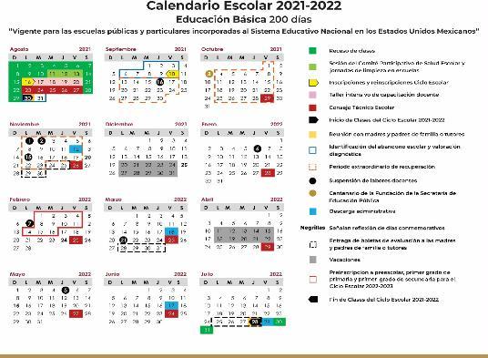 La SEP publicó el calendario oficial para el ciclo escolar 2021-2022. Foto: Especial