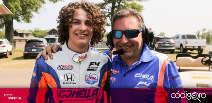 El piloto mexicano Arturo Flores corre en la F4 US Championship. Foto: Especial