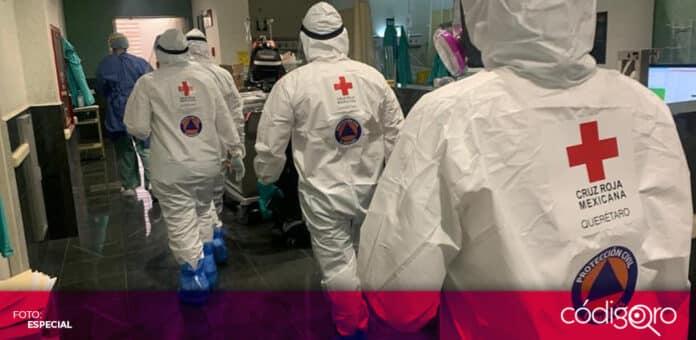 Durante julio, han aumentado los traslados de pacientes con COVID-19 por parte de la Cruz Roja Mexicana. Foto: Especial