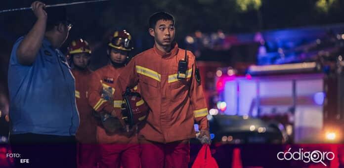 Un edificio se vino abajo en una ciudad del sur de China. Foto: EFE