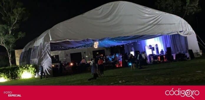 Una fiesta privada fue dispersada por incumplir las medidas sanitarias en la ciudad de Querétaro. Foto: Especial