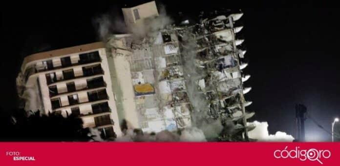 Casi 100 personas siguen desaparecidas tras el derrumbe de un edificio de departamentos en Florida. Foto: Especial