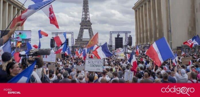 La extrema derecha se opone a la vacunación obligatoria contra COVID-19 en Francia. Foto: Especial