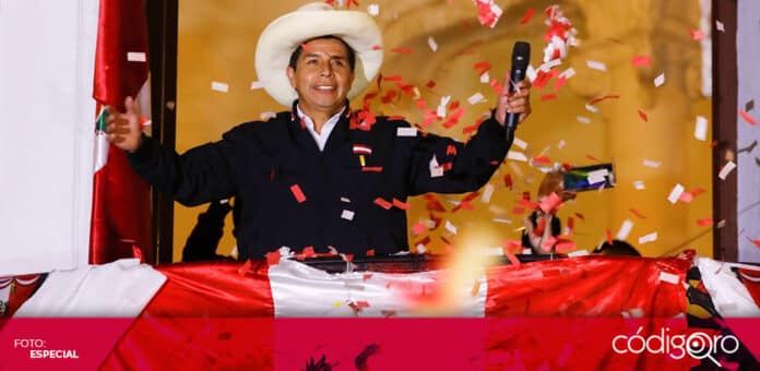 El profesor izquierdista Pedro Castillo fue proclamado como presidente electo de Perú. Foto: Especial