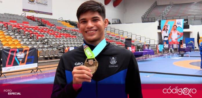 Luchadores queretanos se colgaron medallas en los Juegos Nacionales Conade 2021. Foto: Especial