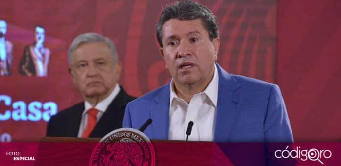 Ricardo Monreal, coordinador de los senadores de Morena, propondrá aplazar la entrada en vigor de la reforma al outsourcing. Foto: Especial