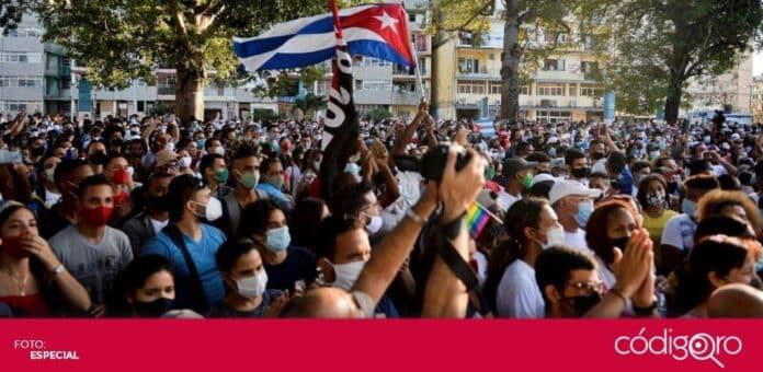 Cientos de personas protestaron en San Antonio de los Baños contra el Gobierno de Cuba. Foto: Especial