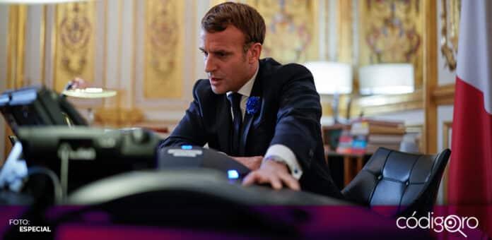 El teléfono del presidente de Francia, Emmanuel Macron, habría sido un objetivo de espionaje de Pegasus. Foto: Especial