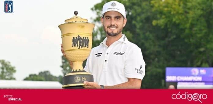 El golfista mexicano Abraham Ancer logró su primer triunfo en un torneo de PGA. Foto: Especial