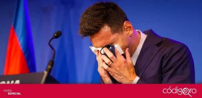 El crack argentino, Lionel Messi, se despidió entre lágrimas del Barcelona. Foto: Especial