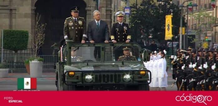 El presidente de México, Andrés Manuel López Obrador, encabezó el Desfile Militar con motivo de la Independencia Nacional. Foto: Especial