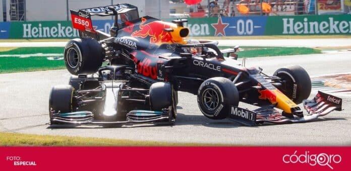 El Gran Premio de Italia quedó marcado por el choque entre Max Verstappen y Lewis Hamilton. Foto: Especial