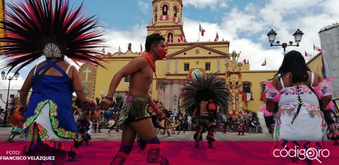 La danza de los concheros es una de las tradiciones más arraigadas de la ciudad de Querétaro. Foto: Francisco Velázquez