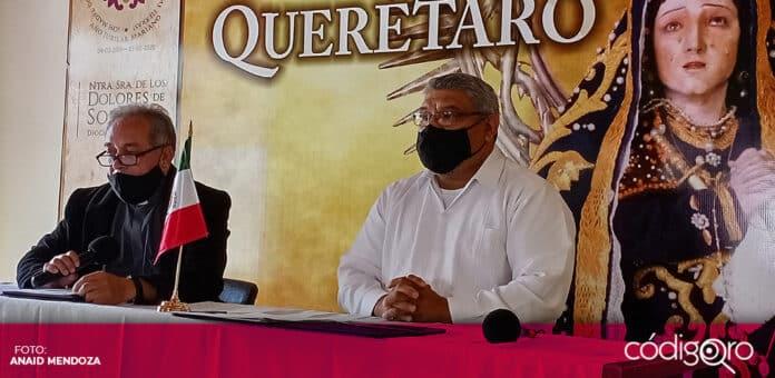 El vicario general de la Diócesis de Querétaro, Martín Lara Becerril, criticó los hechos de ofensas y vandalismo. Foto: Anaid Mendoza