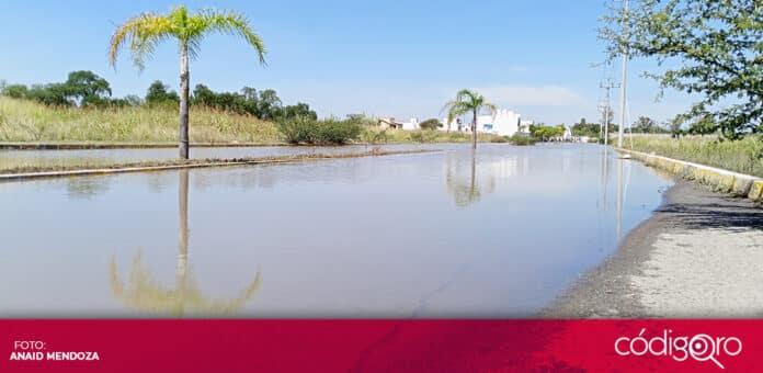 En el municipio de Corregidora, las principales afectaciones por lluvias ocurrieron en el Fraccionamiento Pirámides. Foto: Especial