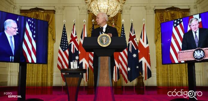 Estados Unidos, Reino Unido y Australia crearon una alianza para contrarrestar a China. Foto: Especial
