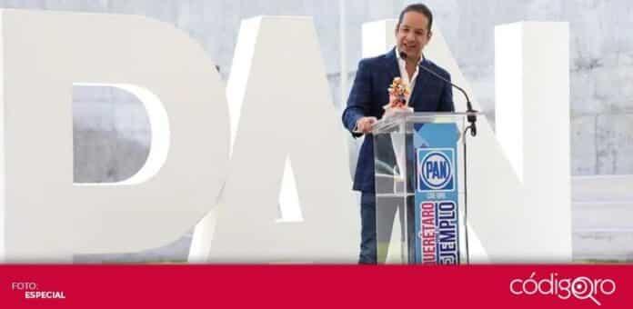 El gobernador del estado de Querétaro, Francisco Domínguez Servién, convocó a la renovación del PAN. Foto: Especial