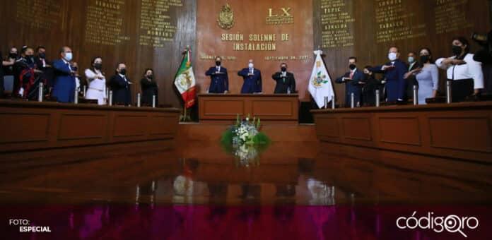 Fue instalada la 60 Legislatura del estado de Querétaro en el Teatro de la República. Foto: Especial