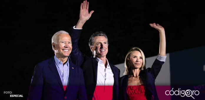 El gobernador demócrata de California, Gavin Newsom, superó el referendo revocatorio en su contra. Foto: Especial