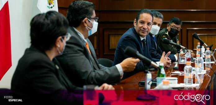 El gobernador de Querétaro, Francisco Domínguez Servién, encabezó su última sesión del Comité Técnico de Atención para COVID-19. Foto: Especial