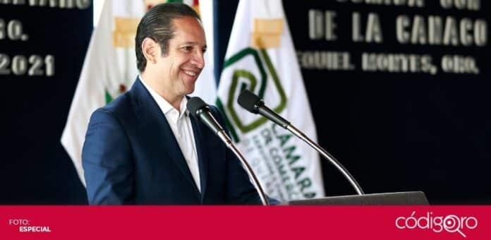 El gobernador Francisco Domínguez Servién resaltó la aportación del sector comercio, servicios y turismo. Foto: Especial