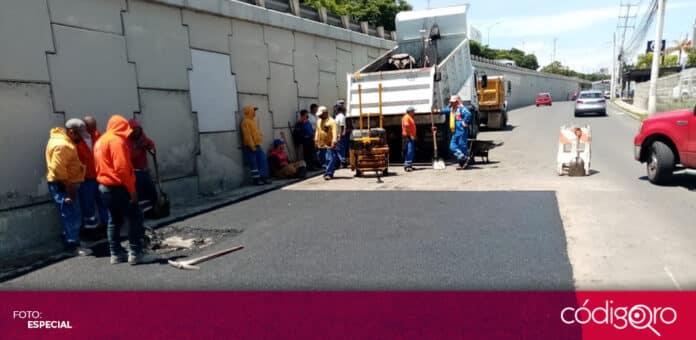 Siguen las labores de limpieza y reparación tras las recientes lluvias en la ciudad de Querétaro. Foto: Especial