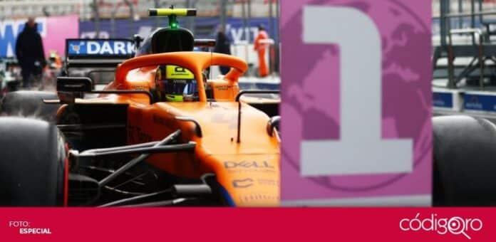 El piloto británico de McLaren, Lando Norris, ganó su primera pole position. Foto: Especial