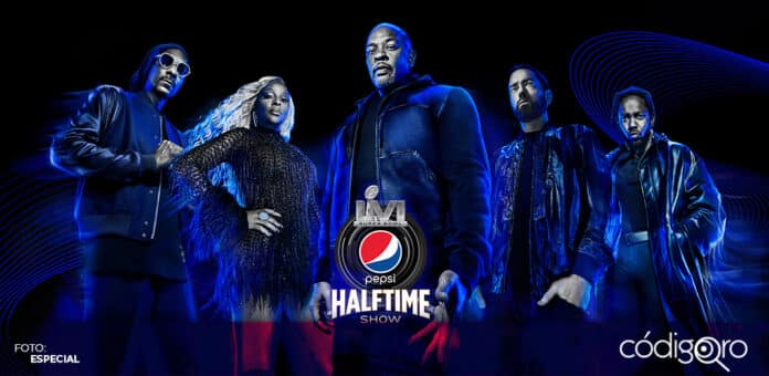 La NFL confirmó a los artistas que se presentarán en el espectáculo del medio tiempo del Super Bowl LVI. Foto: Especial