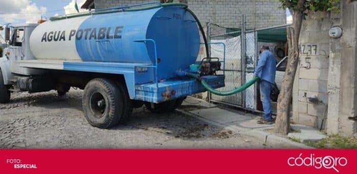Apoyan con pipas a viviendas afectadas por suministro irregular de agua potable. Foto: Especial