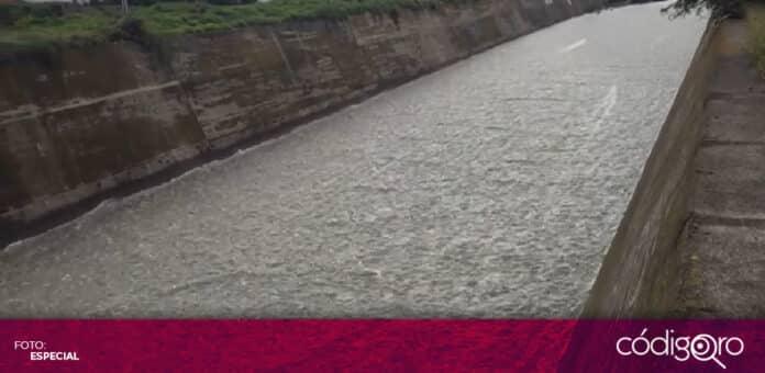 La Presa Constitución de 1917 ha comenzado a desfogar hacia el río San Juan. Foto: Especial