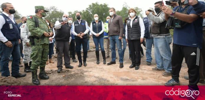 El gobernador de Querétaro, Francisco Domínguez Servién, recorrió las zonas afectadas por las inundaciones en Tequisquiapan. Foto: Especial