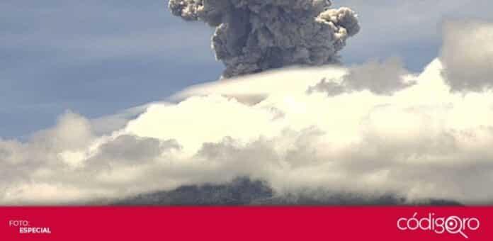 El volcán Popocatépetl ha incrementado su actividad durante este sábado. Foto: Especial