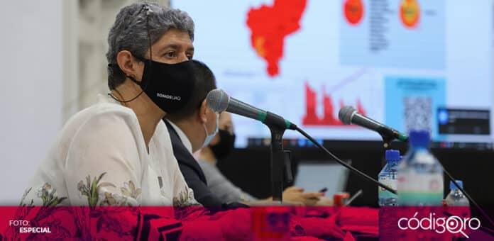 La rectora Teresa García Gasca presentó el Plan de Desarrollo Institucional de la UAQ 2021-2024. Foto: Especial