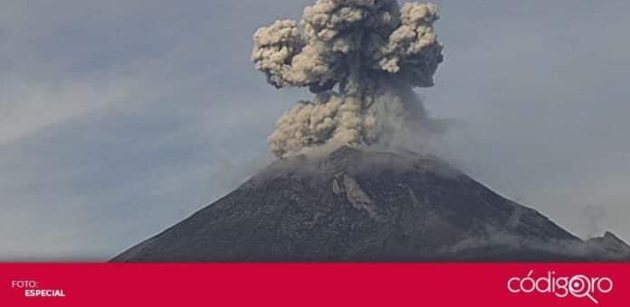 Durante este sábado 11 de septiembre, el volcán Popocatépetl incrementó su actividad. Foto: Especial